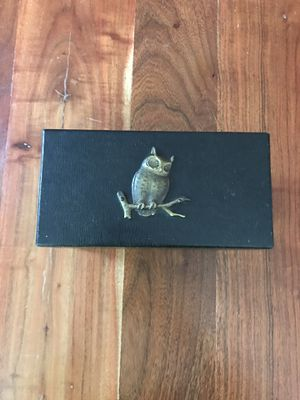 Vintage Owl Leather Box for Sale in Charlotte, NC