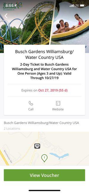 Busch Gardens ticket for Sale in Chester, VA