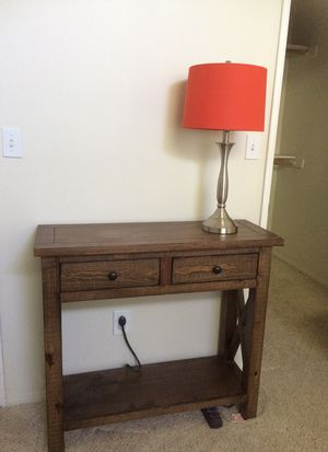 2 Drawer Shelf TV Stand! Lamp Included! for Sale in Los Angeles, CA