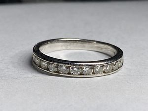 Solid white gold diamond 1/2 carat ring size 6 for Sale in Miami, FL
