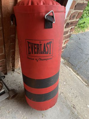 Everlast Punching bag Medium size heavy bag for Sale in Newington, CT