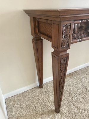 Ethan Allen Solid Cherry Carved Console Table/Credenza for Sale in Elkridge, MD