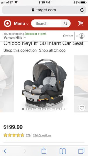Infant grey black baby car seat Chicco for Sale in Libertyville, IL