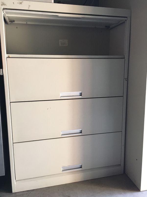 Metal shelves filing cabinet