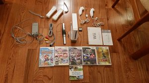 Nintendo Wii bundle, with 6 games for Sale in Herndon, VA