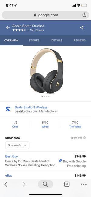 Studio 3 Beats Wireless for Sale in Spanaway, WA