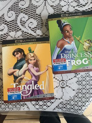 4K movies Disney tangled and prince and the frog 25.00 each for Sale in Anaheim, CA