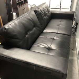 Black Leather Couch for Sale in Portland, OR