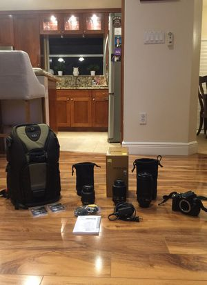 Nikon D5000 with Additional Lenses and Bag for Sale in Hollywood, FL