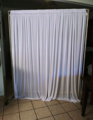 white curtains for Sale in Fontana, CA