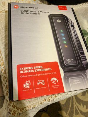 Motorola surfboard extreme cable modem for Sale in San Bernardino, CA