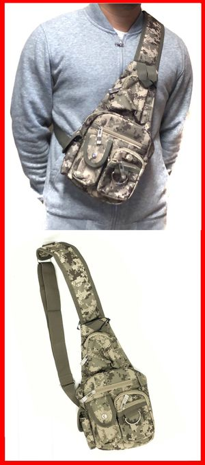 NEW! Camouflage Side Bag Crossbody bag chest bag sling cell phone pouch wallet biking camping hiking day pack edc backpack travel bag for Sale in Los Angeles, CA