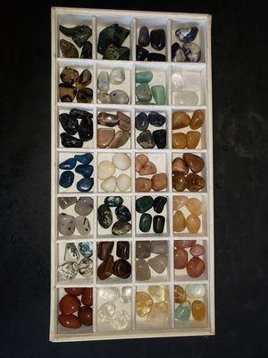 120pc Tumbled & Polished Natural Crystal Gemstone Collection for Reiki meditation metaphysical work wire wrapping crafts for Sale in Boca Raton, FL