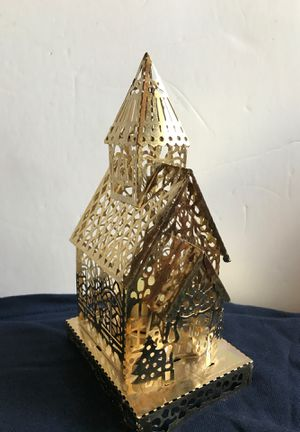Gold filigree church candle holder for Sale in Glendale Heights, IL