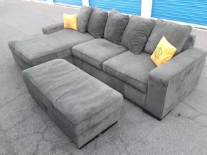 Comfortable sectional couch with ottoman big , for Sale in Glendale, AZ