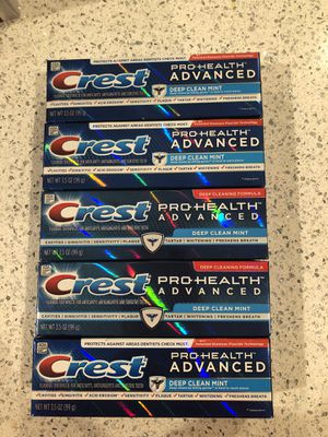 Crest pro health advance toothpaste lot of 5 for Sale in Newport News, VA