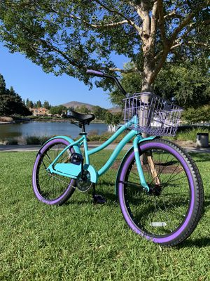 "New aqua/violet beach 🏖 cruiser 24"" petite ladies women's girls bicycle bike for Sale in Chula Vista, CA"