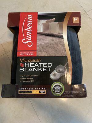Sunbeam electric heated blanket Microplush for Sale in Pompano Beach, FL