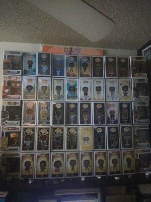 Full all Black Funko Pop, comic book and action figure collection for Sale in Phoenix, AZ