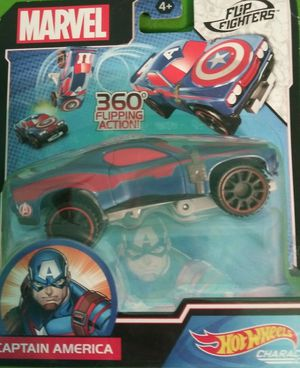 MARVEL COLLECTOR FLIP FIGHTERS HOT WHEELS AVENGERS CAPTAIN AMERICA CHARACTER CAR for Sale in Houston, TX