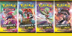 3 x Sealed Champions Path Booster Packs Pokemon Cards for Sale in Waynesboro, TN