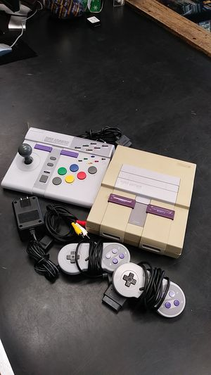 Super nintendo with SNES super advantage and two controller for Sale in Hollywood, FL