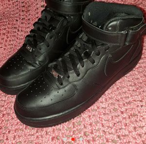 All black high top airforce ones size 13 in mens for Sale in El Dorado, AR