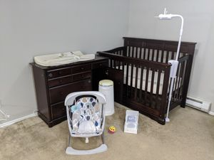 Baby Room Crib & Changing Table Bundle for Sale in Renton, WA