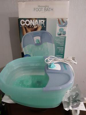 Conair body benefits massaging foot bath for Sale in Merritt Island, FL