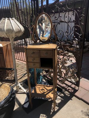 Antique shaving stand & pr French chairs for Sale in Las Vegas, NV