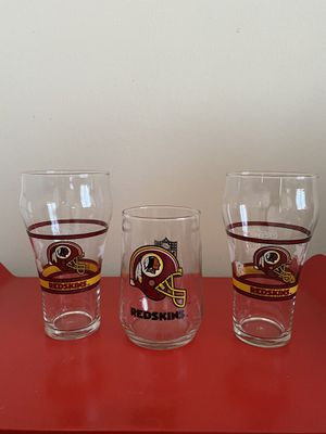 Redskins glass cups for Sale in Annandale, VA
