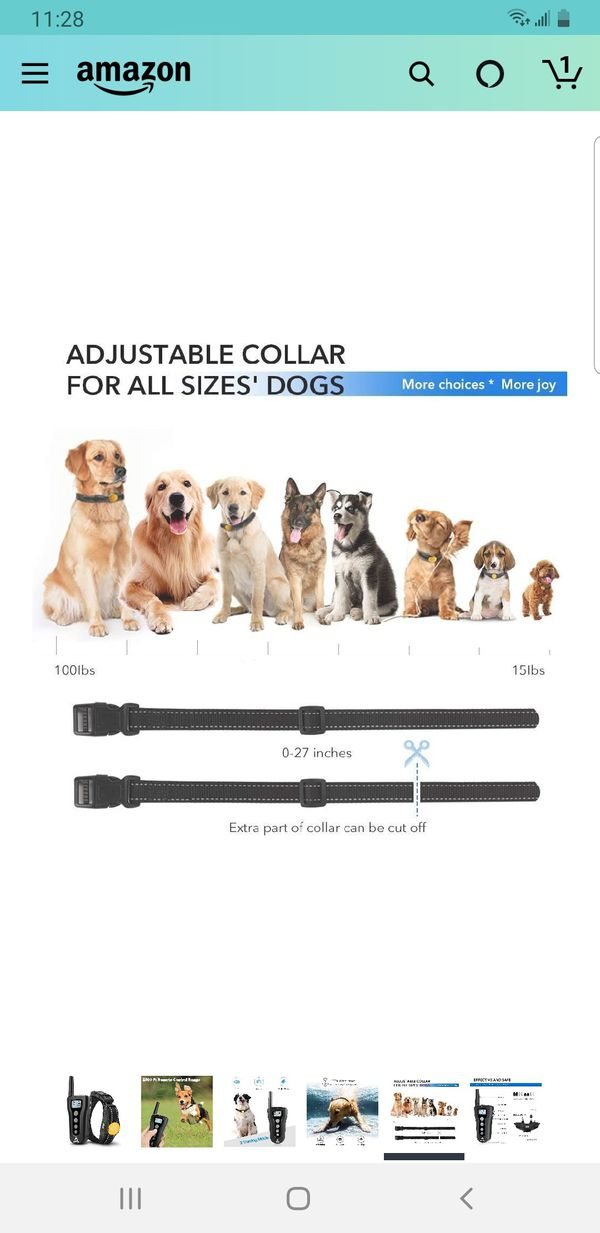 PATPET Dog Training Collar with Remote Rechargeable Waterproof Shock Collar for Dogs