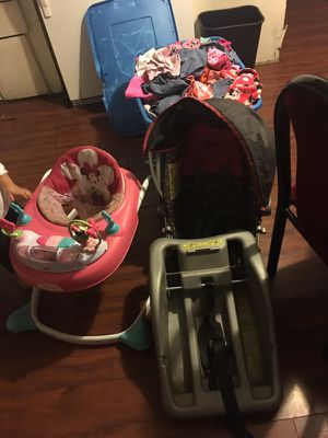 Baby clothes/walker car seat with stroller for Sale in Phoenix, AZ