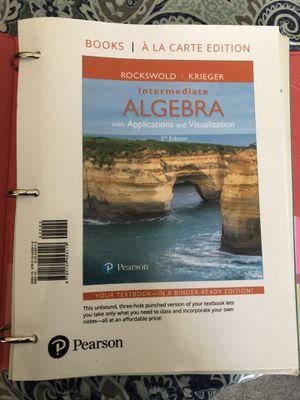 Intermediate Algebra Paper Textbook for Sale in San Diego, CA