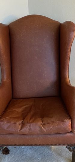 Leather Wing Back Chair for Sale in Gig Harbor,  WA
