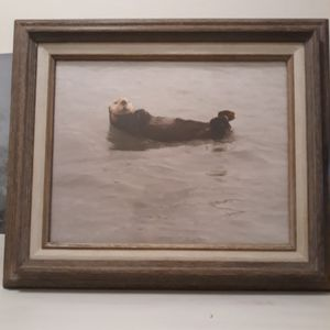 Wood frame picture of Otter for Sale in Moraga, CA