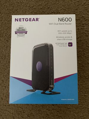 Netgear WiFi Dual Band Router - N600 for Sale in Jacksonville Beach, FL