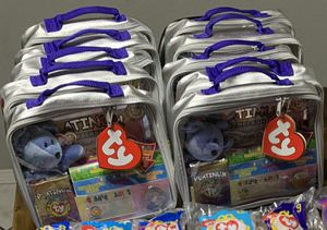 Limited Edition Platinum Beanie Babies Membership Kit II- New! Rare!! X10!! for Sale in El Paso, TX