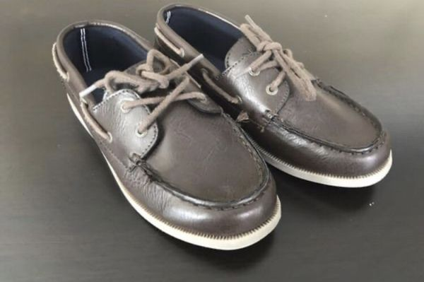NAUTICA Boys Brown Slip On Casual Shoes Sneakers Size 2