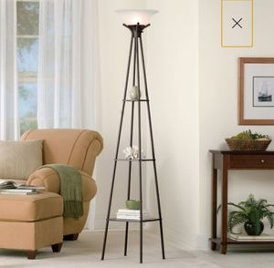 "69"" Etagere Floor Lamp, Dark Charcoal Finish Living Room Light Home Decor for Sale in Henderson, NV"