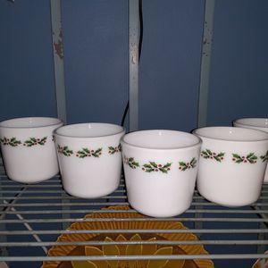 5 Corningware Holly Berry Mugs for Sale in Merrillville, IN