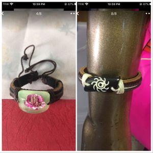 Beautiful Adjustable Leather Bracelet for Sale in Santee, CA
