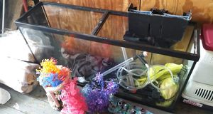 75 gallon fish tank with accessories. for Sale in Worcester, MA