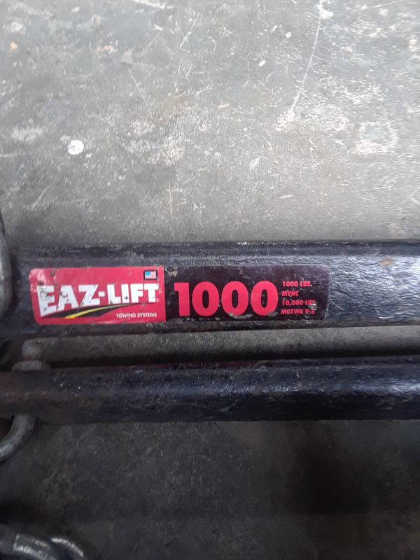 Eaz-lift trailer hitch.