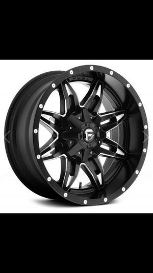 Fuel Offroad D567 Lethal 15x10 6x139.7 -43mm black/milled rim wheel Brand New for Sale in Bakersfield, CA