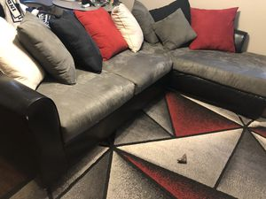 Black and Grey Sectional Couch for Sale in Fort Walton Beach, FL