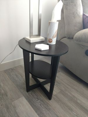 Two dark brown wood end tables for livingroom for Sale in US