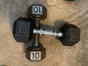 Two dumbbell 10 pounds both for 25$ for Sale in Glendale, CA