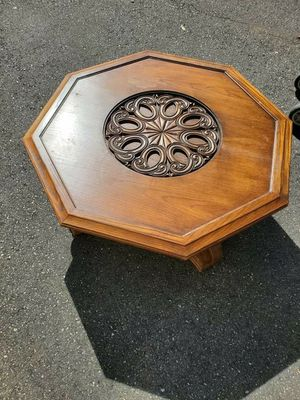 Antique Spanish style center tables with glass on top of carvings. for Sale in Seattle, WA