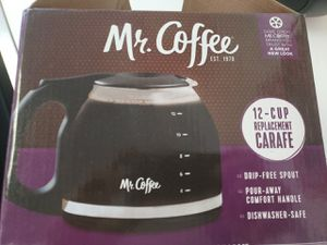 Mr. Coffee Glass 12-Cup Replacement Carafe Pot Black for Sale in Casselberry, FL